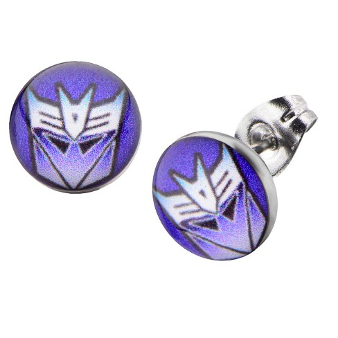 Women's Hasbro Transformers Decepticon Graphic Stainless Steel Stud Earrings - image 1 of 1
