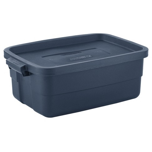 Rubbermaid Roughneck 10 Gallon Rugged Stackable Storage Tote Container 6 Pack