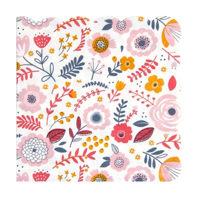 """10"""" 20pk Party Scalloped Cocktail Disposable Napkins"""