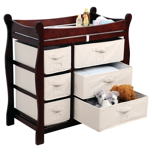 Badger Basket Baby Changing Table Cherry Target - Baby changing table requirements