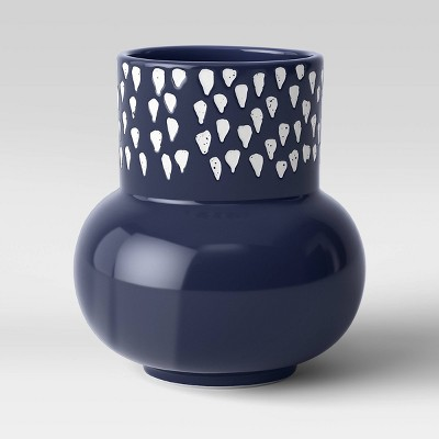Ceramic Vase Blue/White - Opalhouse™