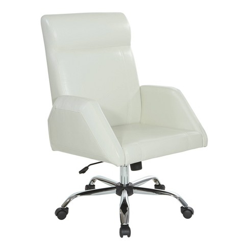Rochester Executive Chair With Chrome Base Faux Leather Cream Osp Home Furnishings Target