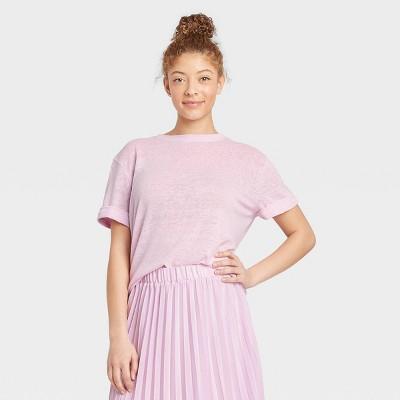 Women's Short Sleeve Linen T-Shirt - A New Day™