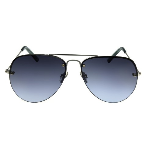 465e6976bbd96 Women s Aviator Sunglasses With Blue Smoke Lenses - A New Day™ Silver    Target