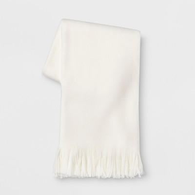 Cozy Solid Throw Blanket Cream - Threshold™