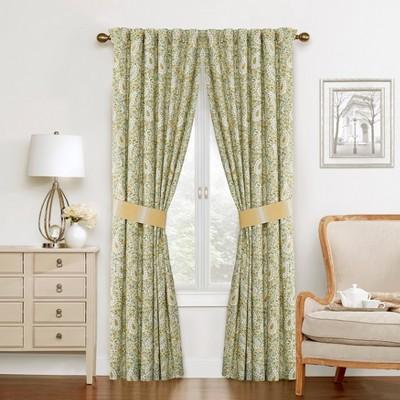 "84""x50"" Curtain Panel Green/Yellow/Ivory - Waverly"