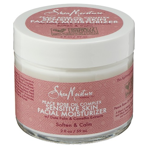 SheaMoisture Peace Rose Oil Complex Sensitive Skin Facial Moisturizer - 2 Fl Oz - image 1 of 2