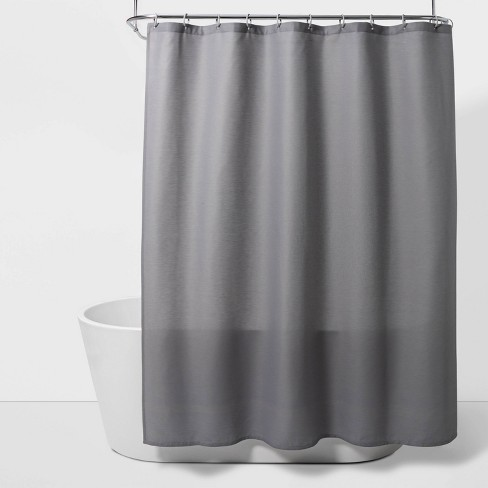 Solid Shower Curtain Gray Mist - Room Essentials™ - image 1 of 3