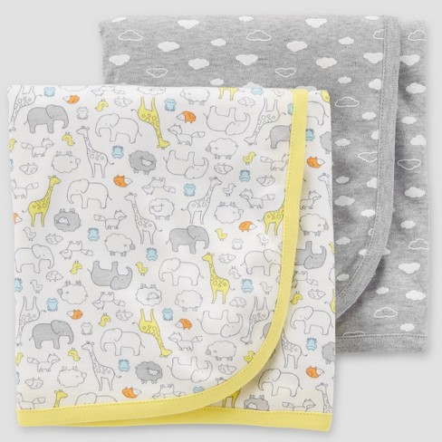 Baby Blanket - Just One You® made by carter's Gray One Size - image 1 of 1