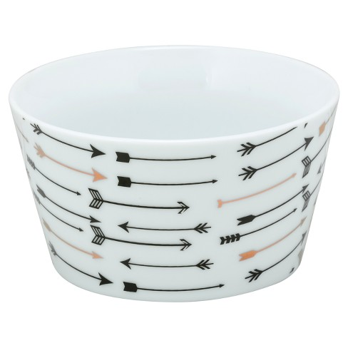 10 Strawberry Street® The Goodies Porcelain Bowls 18oz Arrows - Set of 4 - image 1 of 1