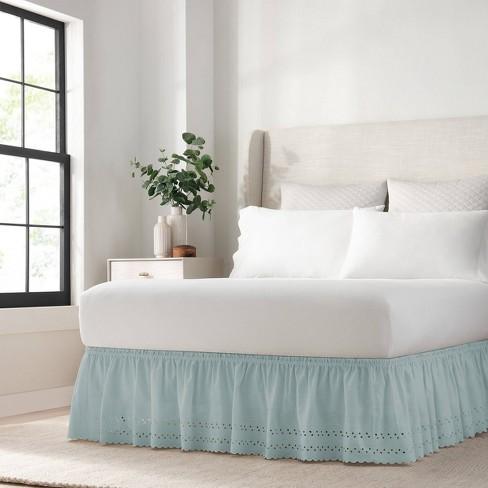 Wrap Around Eyelet Ruffled Bed Skirt - EasyFit™ - image 1 of 4