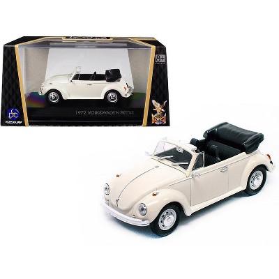 1972 Volkswagen Beetle Open Top Convertible Cream 1/43 Diecast Model Car by Road Signature
