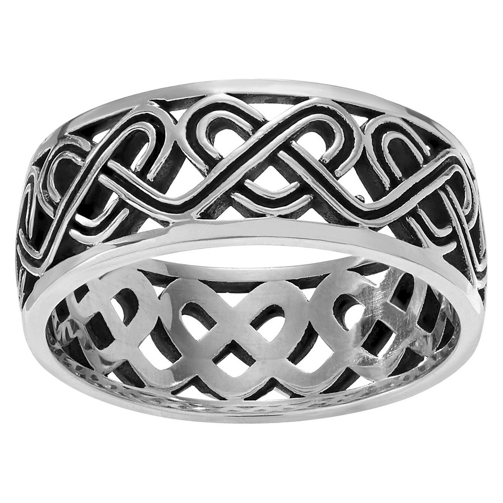 Journee Collection Heart Weave Band in Sterling Silver - Silver, 5, Girl's
