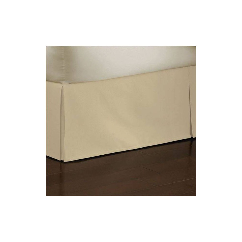 "Image of ""Twin Tailored Poplin Bedskirt 14"""" Drop Cream - Fresh Ideas, Ivory"""