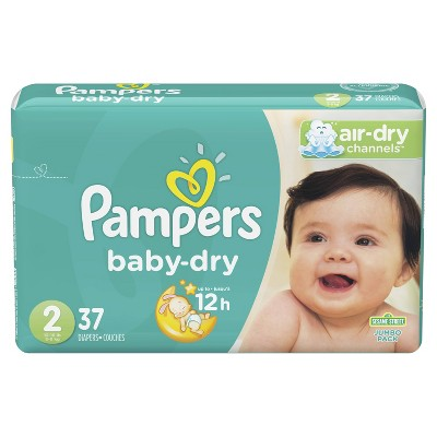 Pampers Baby Dry Diapers Jumbo Pack - Size 2 - 37ct