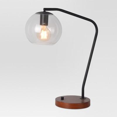 Menlo Glass Globe Desk Lamp Black Includes Energy Efficient Light Bulb - Project 62™