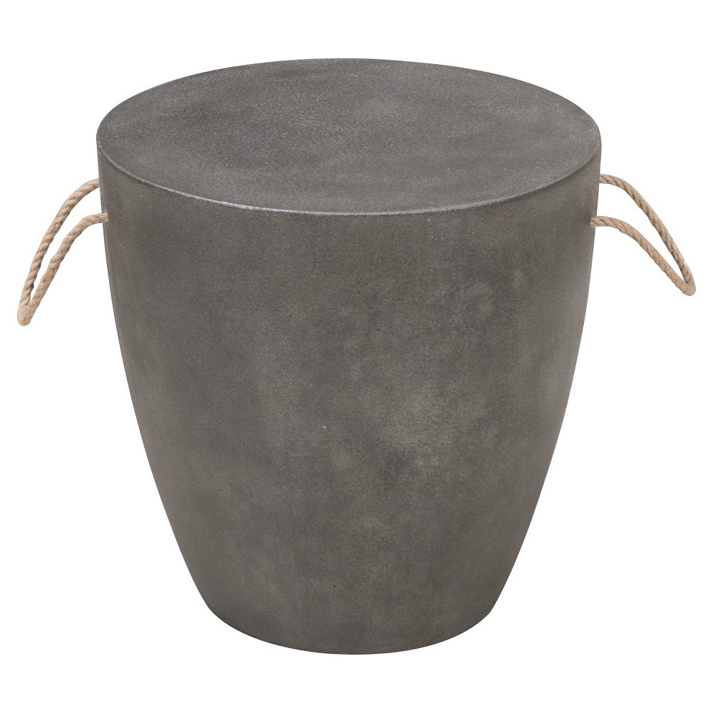 Modern Faux Cement 24 Stool - ZM Home, Gray
