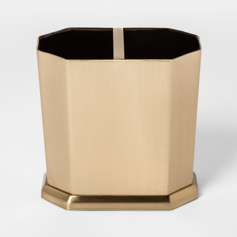 Solid Toothbrush Holder Faceted Gold - Threshold™ - image 1 of 2