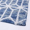 Hexagon Border Bath Rug Blue - Allure Home Creations - image 2 of 4