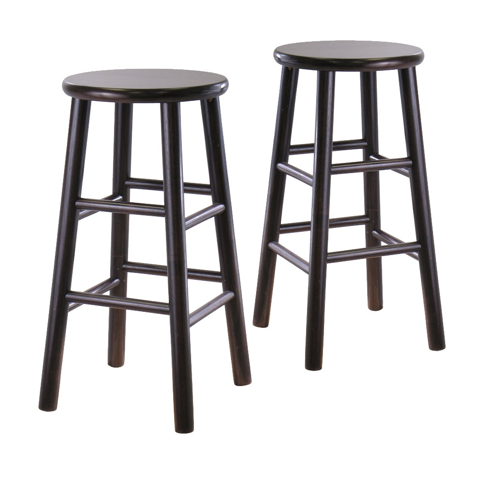 Target For Set Of 2 Beveled 24 5 Counter Height Barstool Hardwood Espresso Winsome Accuweather Shop