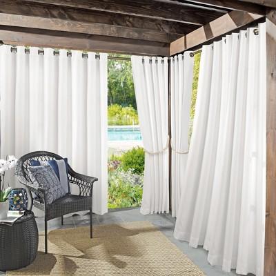 Rodham Indoor/Outdoor Blackout Curtain Panel White 52 x108  - Sun Zero