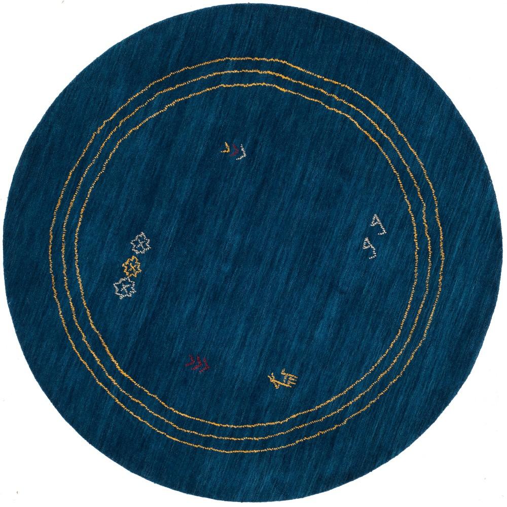 6 Geometric Design Loomed Round Area Rug Blue - Safavieh Best