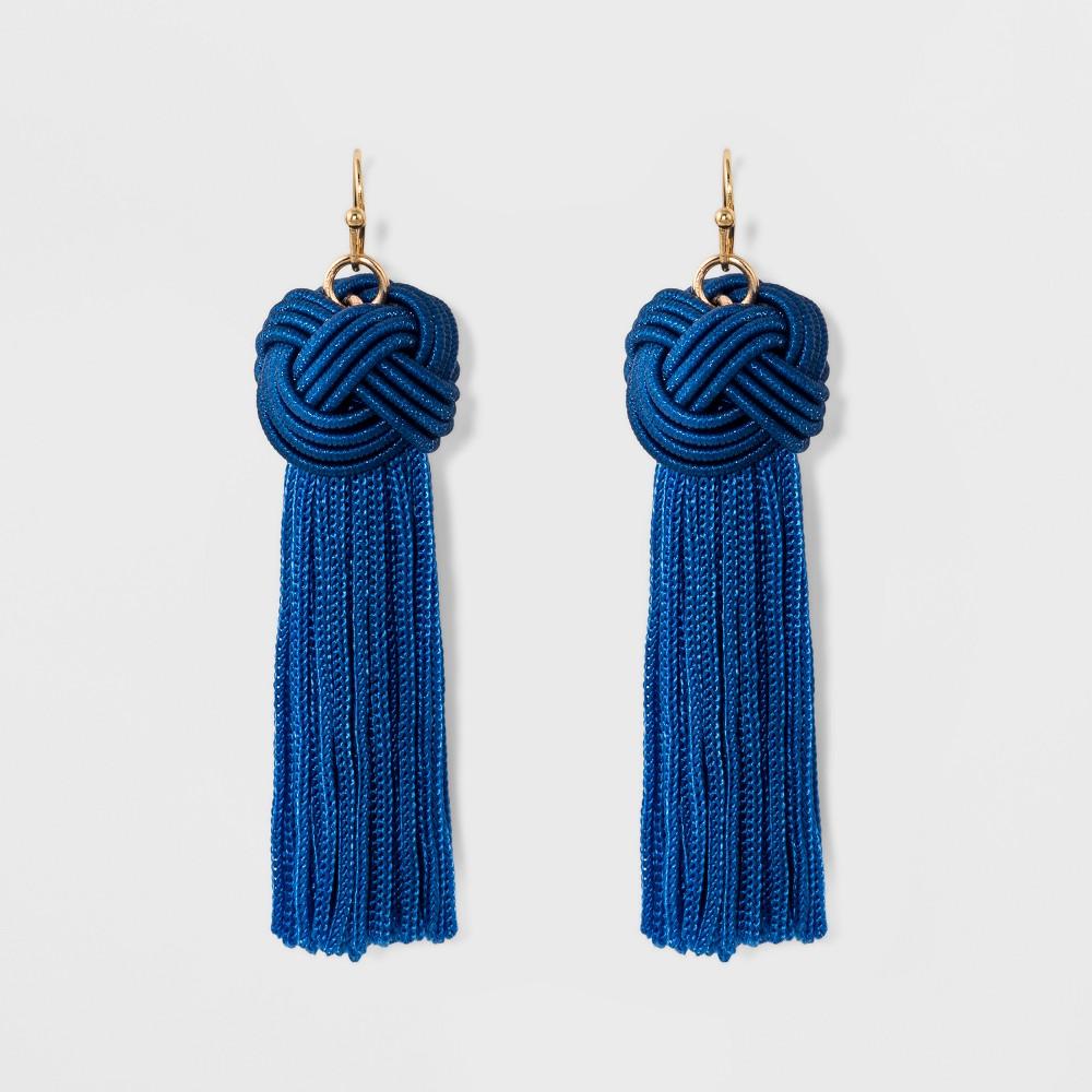 Sugarfix by BaubleBar Tassel Drop Earrings with Knot - Blue, Girl's