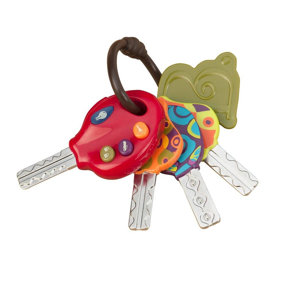 B Toys Toy Car Keys 3 Sounds 38 Flashlight Luckeys Red