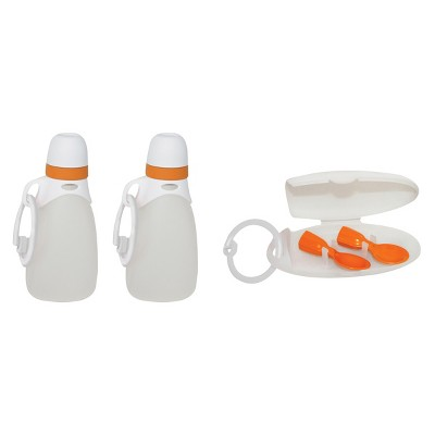 INFANTINO 'Fresh Squeezed' - 2 Reusable Pouches & Spoons Bundle