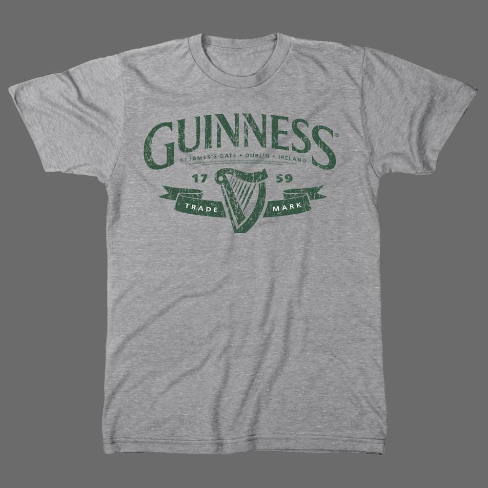 Image of Men's Guinness Short Sleeve Graphic T-Shirt - Gray 2XL, Men's