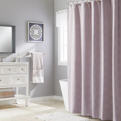 Large Basketweave Shower Curtain Purple