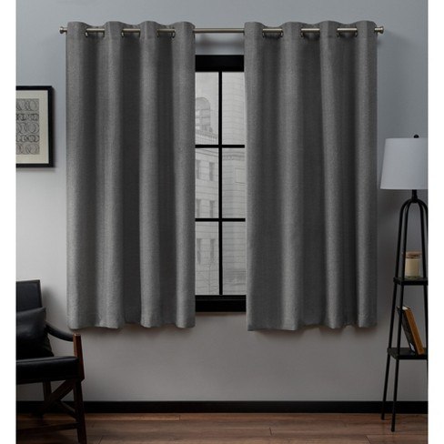 Loha Linen Window Curtain Panel Pair - Exclusive Home™ - image 1 of 5