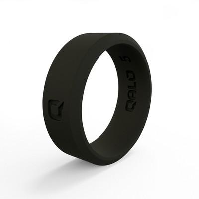 Qalo Standard Women's Black Modern Silicone Ring