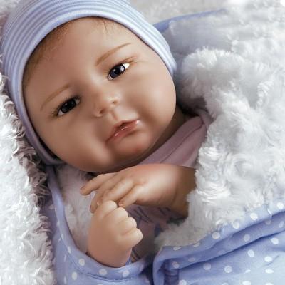 Paradise Galleries Silicone Vinyl Reborn Baby Boy, 20 inch Newborn Baby Bundles: All The Ladies Love Me, 7-Piece Ensemble