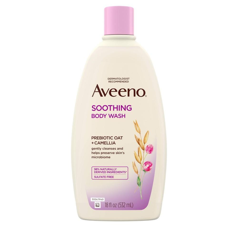 Aveeno Soothing Body Wash Pre Biotic Oat Camellia 18 Fl Oz