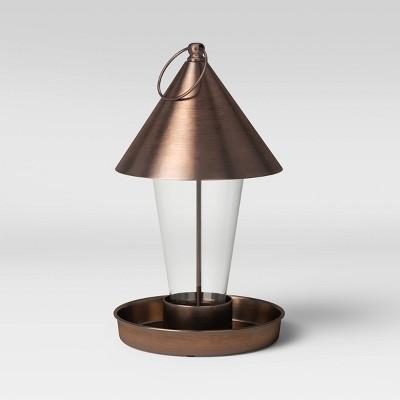 11  Mild Steel/Glass Bird Feeder Copper Brown - Smith & Hawken™