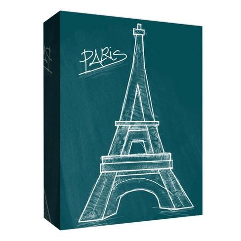 "Chalk Eiffel Decorative Canvas Wall Art 11""x14"" - PTM Images - image 1 of 1"