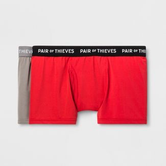 Pair of Thieves Men's SuperFit Trunks 2pk - Red/Gray S