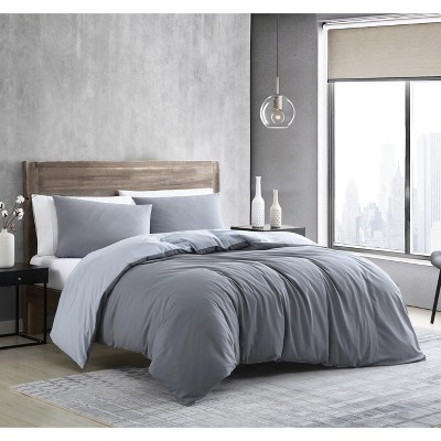 Kenneth Cole New York Miro Solid Duvet Cover Set