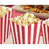100 Mini Popcorn Boxes 3x5 Party Snack Favor Treat Containers Red/White, 20 Oz - image 3 of 4