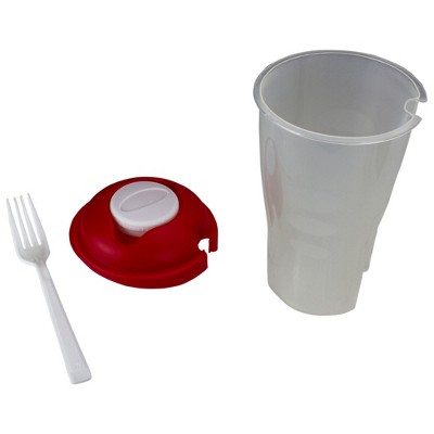"""Northlight 8"""" Portable Salad Container with Lid and Fork"""
