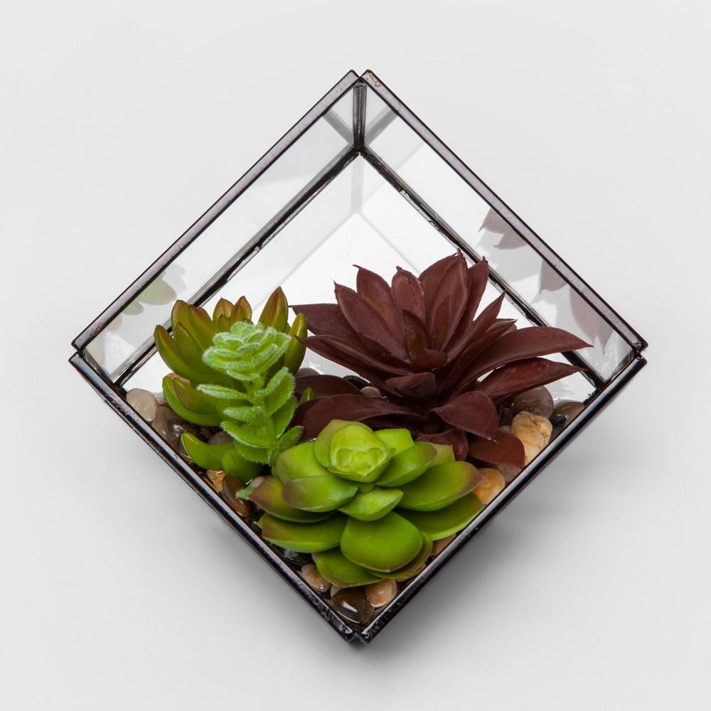 Artificial Succulent in Terrarium - Project 62, Green