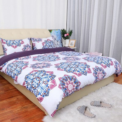 3 Pcs Polyester Bohemian Theme Washable Duvet Cover Bedding Sets - PiccoCasa
