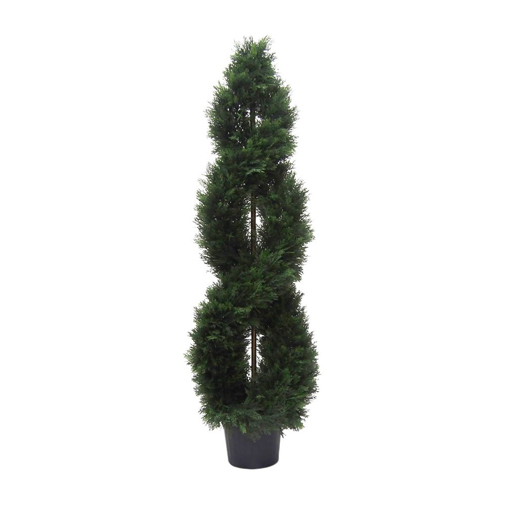 Image of Artificial Cedar Double Spiral (UV) (5ft) Green - Vickerman