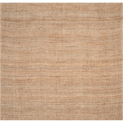 5'X5' Solid Woven Square Area Rug Natural - Safavieh