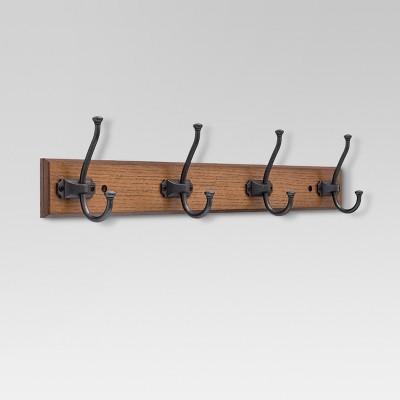Tisbury Hook Rack - Walnut & Soft iron - Threshold™