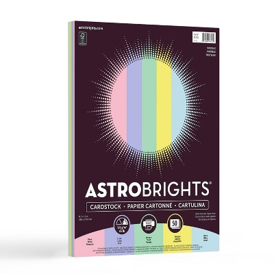 "Astrobrights Neenah 8.5"" x 11"" Pastel Cardstock 65lb 50 Sheets"