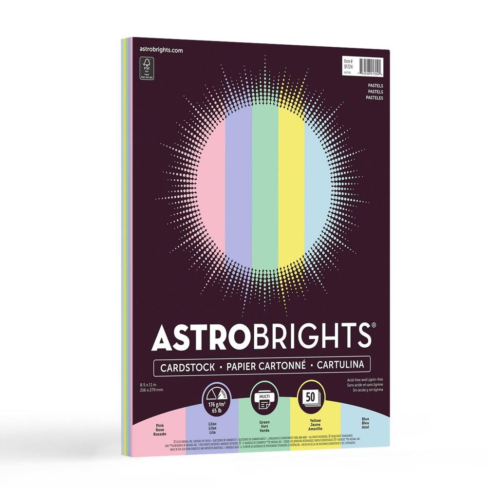 Astrobrights Neenah 8 5 34 X 11 34 Pastel Cardstock 65lb 50 Sheets