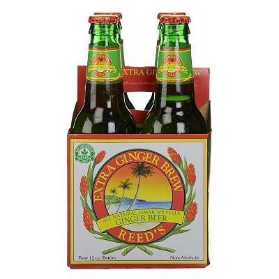 Reed's Extra Ginger Brew - 4pk/12 fl oz Glass Bottles