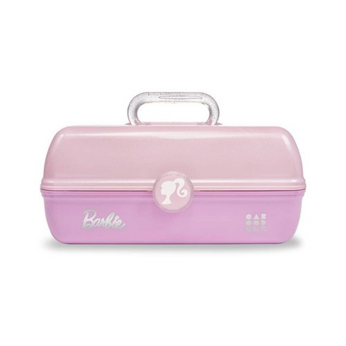 Caboodles Barbie On The Go Girl Cosmetic Bag - Pink and Pink Glitter - image 1 of 3